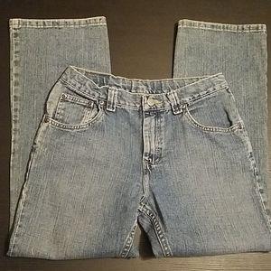 Lee Boys Husky Size Straight Leg Jeans